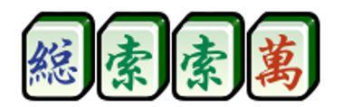 กรอบสีเขียวตั้งอยู่ในไพ่นกกระจอก