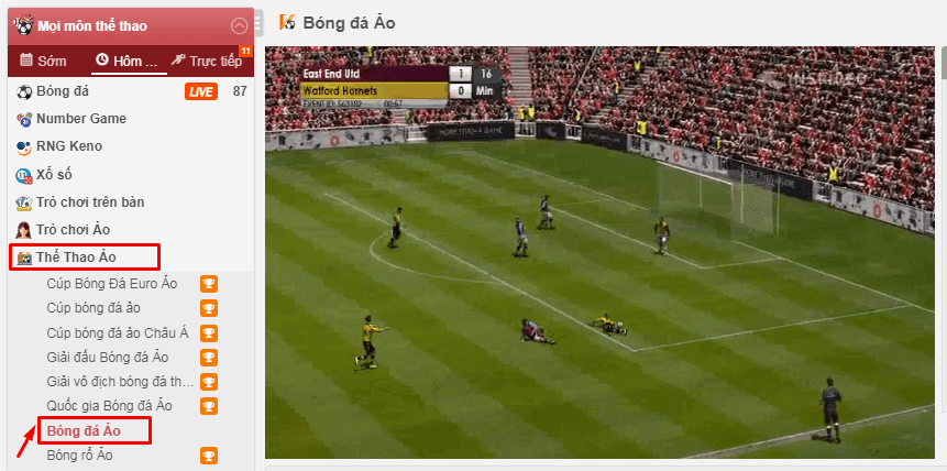 วิธีเล่นพนันฟุตบอลเสมือนจริงที่ 12bet