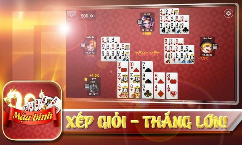 Mau Binh ออนไลน์และวิธีเล่น Mau Binh นั้นดีและจะไม่ชนะ